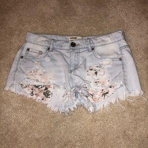 Garage blue jean shorts, size 0